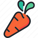 carrot, food, gastronomy, healthy, kitchen, vegetable icon