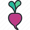 beet, food, fruit, gastronomy, healthy, vegetable icon
