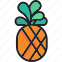 food, fruit, gastronomy, healthy, pineapple, tropical icon