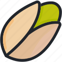 food, gastronomy, healthy, nut, pistachio, vegetable icon