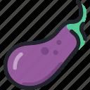aubergine, eggplant, food, fruit, gastronomy, vegetable icon