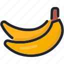 banana, bananas, food, fruit, healthy, organic icon