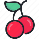 cherries, dessert, food, fruit, healthy, sweet icon
