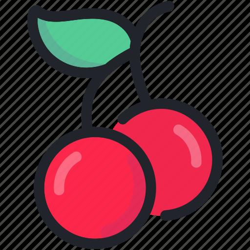 cherries, dessert, food, fruit, healthy, sweet icon