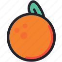 dessert, food, fruit, gastronomy, healthy, orange icon