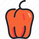 eat, food, gastronomy, kitchen, pepper, vegetable icon