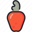 cashew, dessert, food, fruit, healthy, nut icon