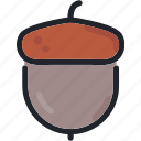 food, gastronomy, hazelnut, nut, seed icon