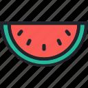breakfast, food, fruit, gastronomy, healthy, watermelon icon