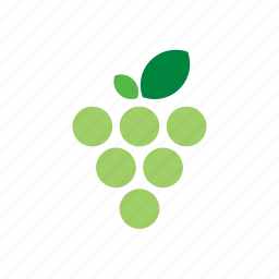 food, fruit, grape, green icon