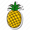 fruit, pineapple, sweet icon