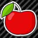 apple, fruit, organic icon