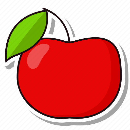 apple, fruit, organic icon