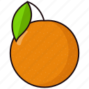 orange, slice icon