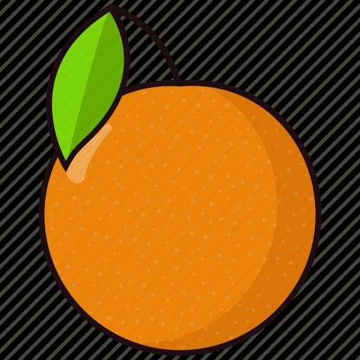 orange, slice icon