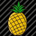 fruit, pineapple, sweet