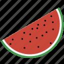 piece, watermelon, slice