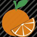 orange, slice