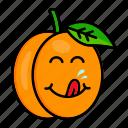 apricot, character, food, fruit, organic