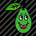 avocado, character, food, fruit, organic