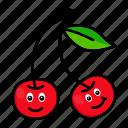 character, cherry, food, fruit, organic