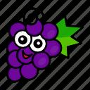 character, food, fruit, grape, organic