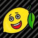 character, food, fruit, lemon, organic