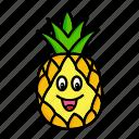 character, food, fruit, organic, pineapple icon