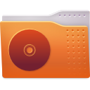 cd, folder, images icon
