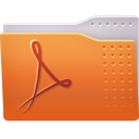 folder, pdf icon
