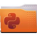 folder, python icon