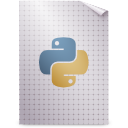 gnome, mime, python, text icon