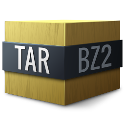 bzip, compressed, tar icon