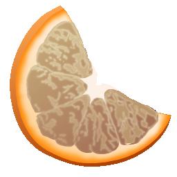 clementine, grey, panel icon
