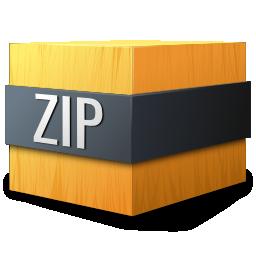 gnome, mime, zip icon