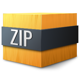 gnome, mime, zip icon