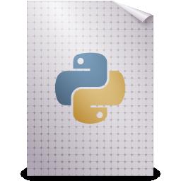 gnome, mime, python, text icon