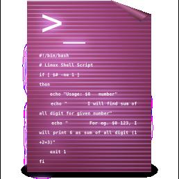 gnome, mime, sh, text icon