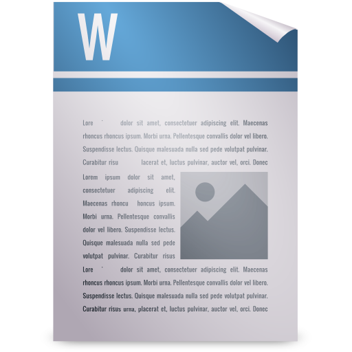 package, wordprocessing icon
