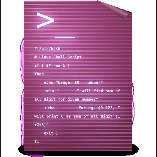 script, text icon