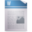 opendocument text, template icon
