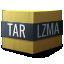 application/x-, compressed, lzma, tar icon
