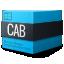 cab, compressed, gnome, mime icon