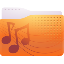 folder, sounds icon