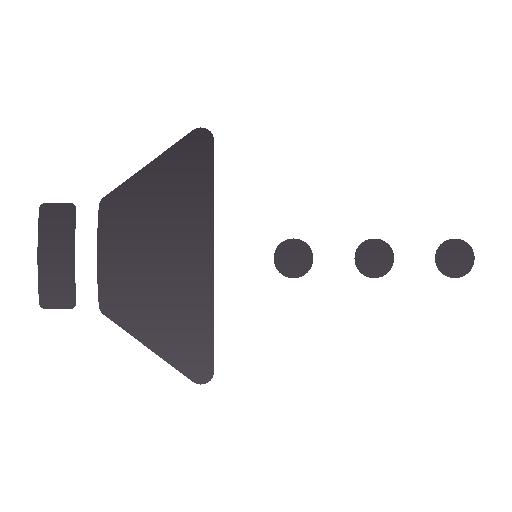 audio, blocking, muted, panel, volume icon