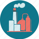 building, energy, factory, fuel, industry, oil, pollution, refinery icon