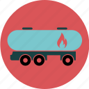 burning, delivery, fire, fuel, oil, tank, tanker, transport, truck icon