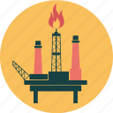 drilling, energy, fire, ocean, offshore, oil, ossil, platform, rig, sea icon
