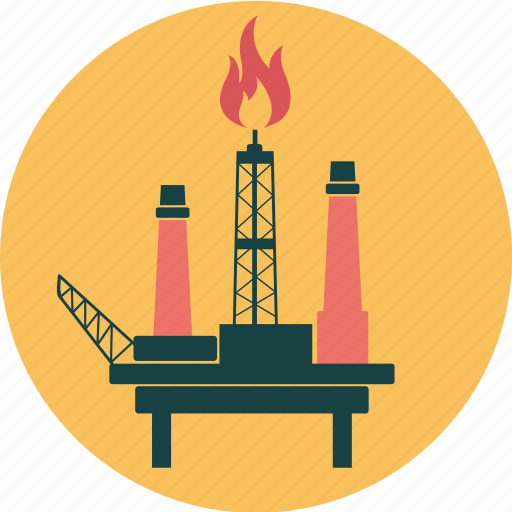 Drilling, energy, fire, ocean, offshore, oil, ossil icon - Download on Iconfinder
