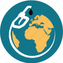 business, earth, energy, fuel, globe, handle, nozzle, oil, pump, station icon